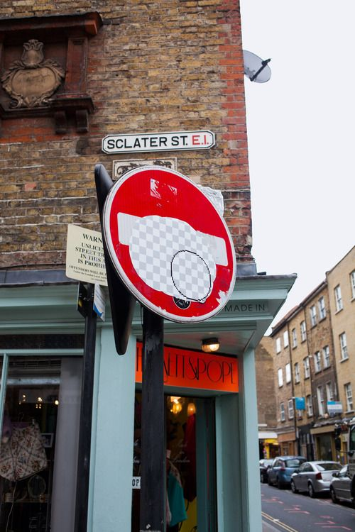 Ad creatives Guus Ter Beek and Tayfun Serier sure have a sense of humor. Through their Street Eraser project, the duo are now putting up giant cutouts of the iconic Photoshop erase tool effect in the streets of London to wipe out the ugly bits, such as billboard ads and road signs.
