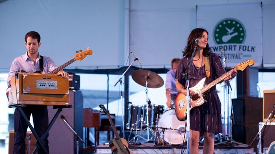 Sharon Van Etten, Live In Concert: Newport Folk 2012. Hear the show again. Photo by Erik Jacobs for NPR.