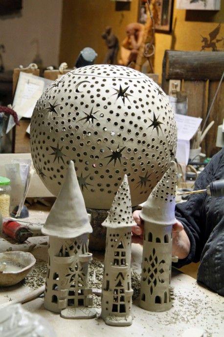 hauptsache keramik l cher tolle bastel werk diy ideen f r mich pinterest tonfiguren. Black Bedroom Furniture Sets. Home Design Ideas