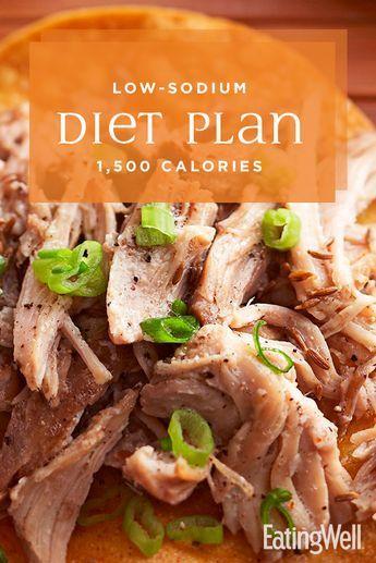 Low-Sodium Diet Plan: 1,500 Calories