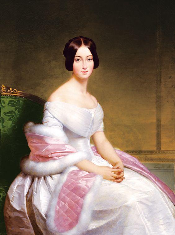 Portrait of Madame De Blanzay,detail.Alexis-Joseph Perignon (1806-1882) | Portrait of Madame de Blanzay: