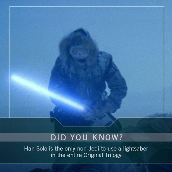 This is a lie fin used a light saber and he isn't a Jedi