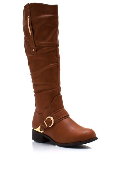 Metallic Accent Harness Boots $38.80