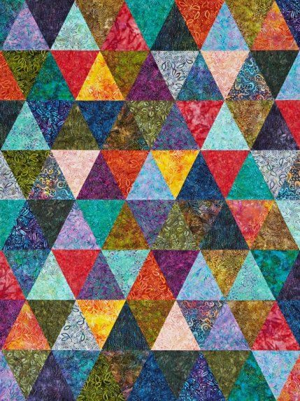 Free Batik Quilt Patterns | AllPeopleQuilt.com Painter's Palette.