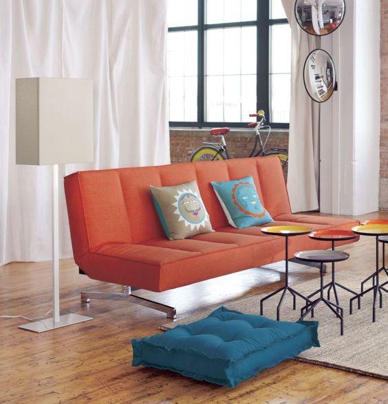flex orange sleeper sofa in bedroom furniture cb2 cb2 bedroom furniture