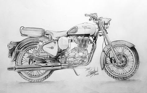 Pin By Vikram Singh On Vehicle With Images Motorcycle Drawing