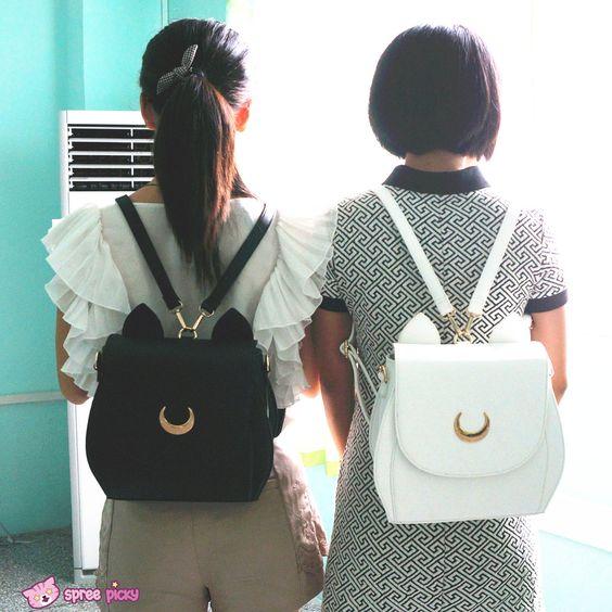{Reservation} Luna/Artemis Backpack High Quality Sailor Moon Bag SP153316 - SpreePicky -two please