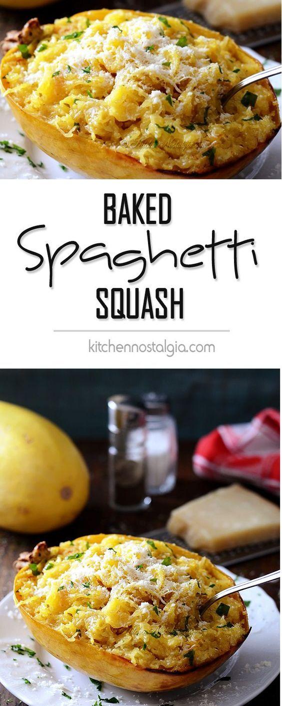 Baked spaghetti squash, Baked spaghetti and Spaghetti squash on ...