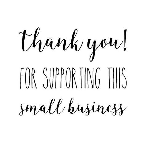 THANK YOU for supporting small BUSINESS stamp packaging