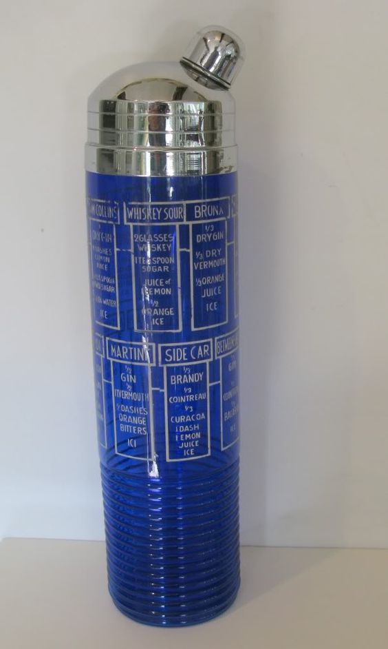 Tall Cobalt Blue Recipe Shaker!