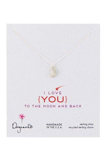 I Love You Moon Glow Necklace on HauteLook