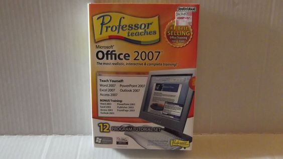 #Microsoft Office 2007 Professor Teaches 12 Program #Tutorial Set Over 700 Lessons #Microsoft #office #howto #professor teaches #computer #PC #microsoftoffice find this and so much more at #ThenAndAgainTreasures on #ebay #OBO on everything TOO!! We consider them all! :)