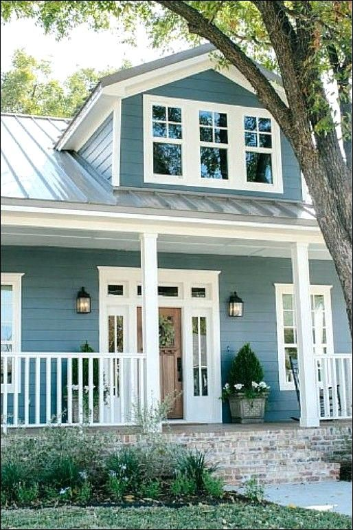 Metal Roof And Siding Color Combinations Sheet Metal Roofing Colors Log Cabin Metal Roof Colors Roo House Paint Exterior Cottage Exterior Exterior House Colors