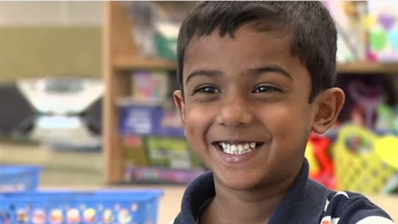 While most kindergartners are busy learning how to pronounce one syllable words, 6-year-old Kazim Ali is on to much higher steps.