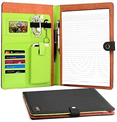 Amazon Com Cornmi Business Portfolio Resume Portfolio Pu Premium Leather Padfolio Portfolio Folder In 2020 Leather Padfolio Fun Holiday Gift Business Card Holders