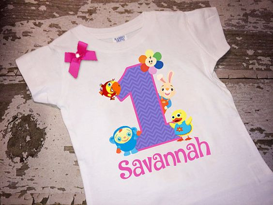 Personalized BabyFirstTV Shirt with Name and by littlemacboutique