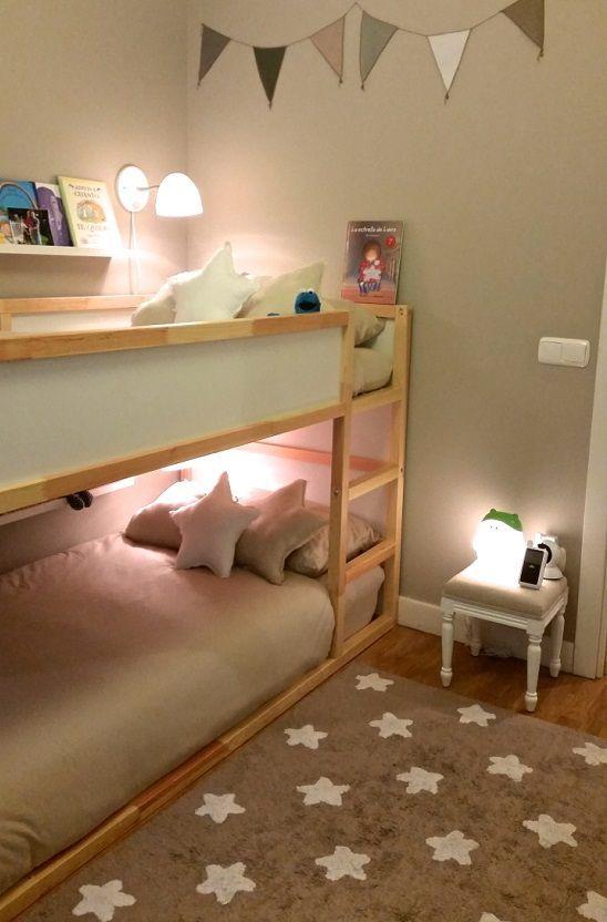 Habitación infantil compartida http://www.mamidecora.com/habitaciones-%20infantiles-compartidas.html: