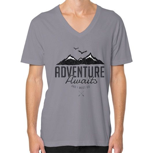 Adventure Awaits V-Neck (on man)