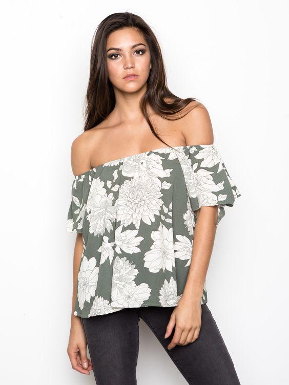 Floral Off-The-Shoulder Blouse