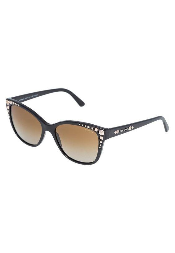 Versace Okulary przeciwsłoneczne black 859.00zł #moda #fashion #women #kobieta #versace #okulary #przeciwsłoneczne #black #czarny #damskie