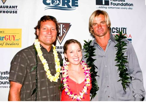 We want to see an end to Cystic Fibrosis soon for all who suffer from this deadly inherited disease, but also for our close friend's niece and my son's college roommate. Join legendary watermen Laird Hamilton and Dave Kalama, as well as more than a dozen musicians, gold medalists and surfing legends at Pipeline To A Cure gala on Saturday, at the Hyatt Regency Huntington Beach Resort and Spa.