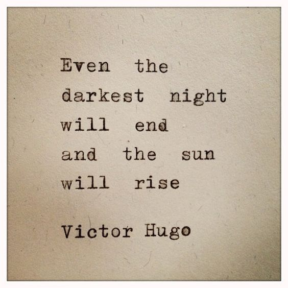 Victor Hugo Quote Typed on Typewriter: