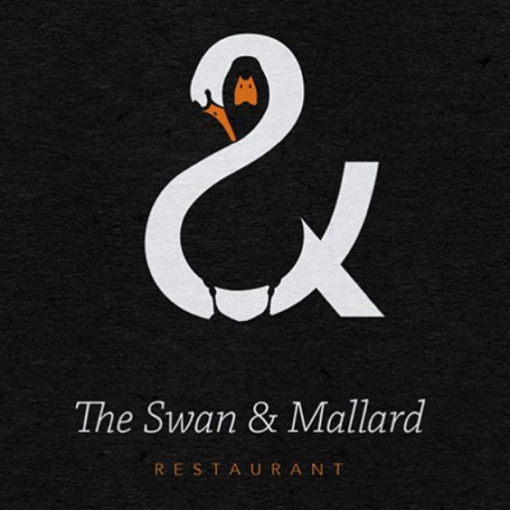 Outstanding positive and negative bird combo in an #ampersand by @jrandalldesign in London #lettering #logo