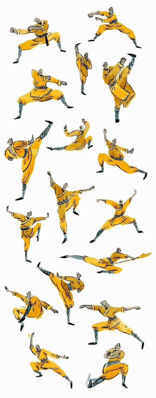 Vikki Chu: Kung Fu Monks - this is too cute!