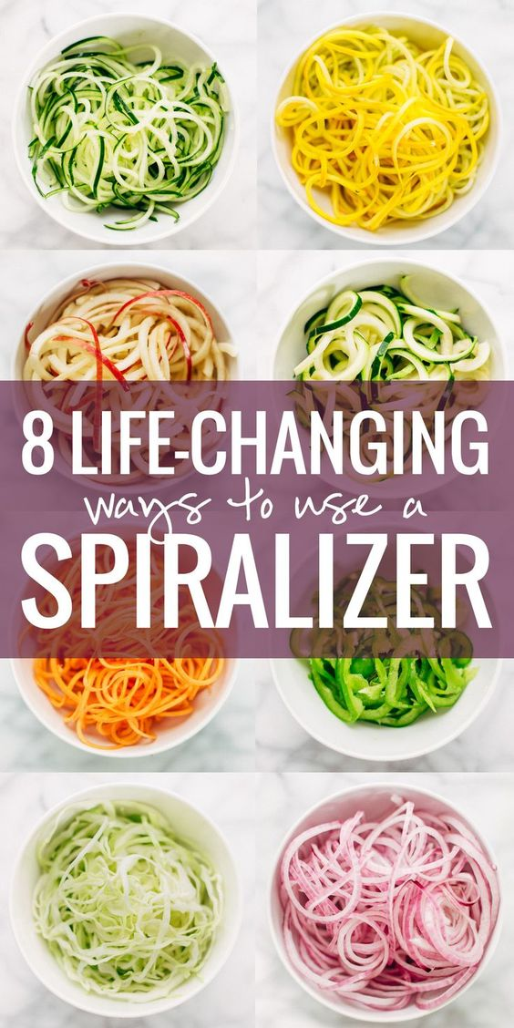 8 Life-Changing Ways to Use a Spiralizer - from zucchini noodles to spiral-cut bell peppers to apple ribbons! Healthy eating has never been easier!