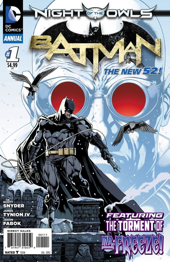 """Batman Annual #1...Excited for this on Tues. 5/29. Reintroduction of Mr. Freeze (to team up with Batman to defeat the """"Owls""""???, is my guess)"""