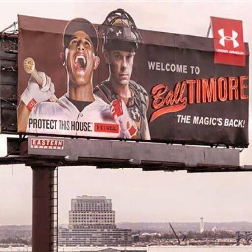 #Orioles billboard.  #CharmCity wants you to Protect This House!  #Balltimore