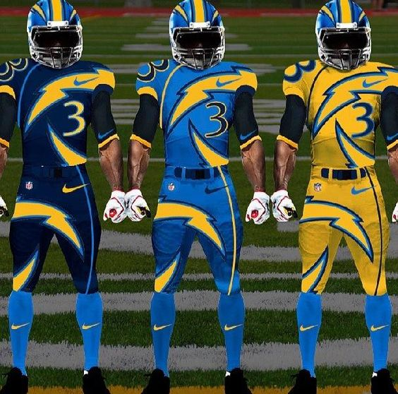 San Diego Chargers Colors: San Diego Chargers Concept Helmets