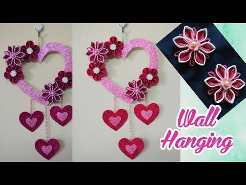 Beautiful Wall Hanging Glitter Foam Sheet Craft Home Decor Ideas Valentine S Day Craft Ideas Youtube In 2020 Foam Sheet Crafts Valentine Day Crafts Crafts
