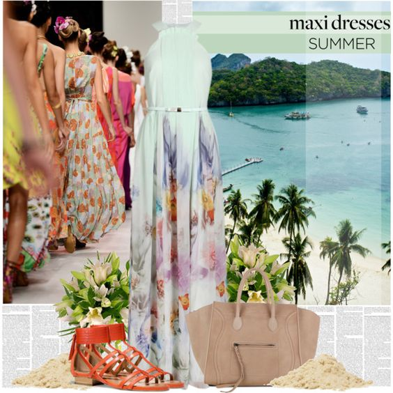 """Maxi Dresses Go With the Flow"" by bklana on Polyvore"