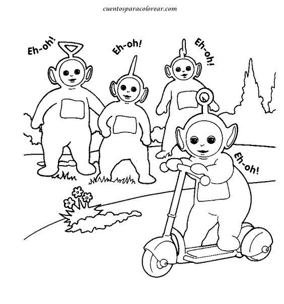 Teletubbies Coloring Book Kids Fun Com: Dibujos De Los Teletubbies Para Colorear Y Pintar Para