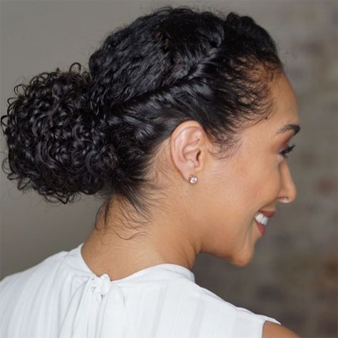 Professional curly hair twist style