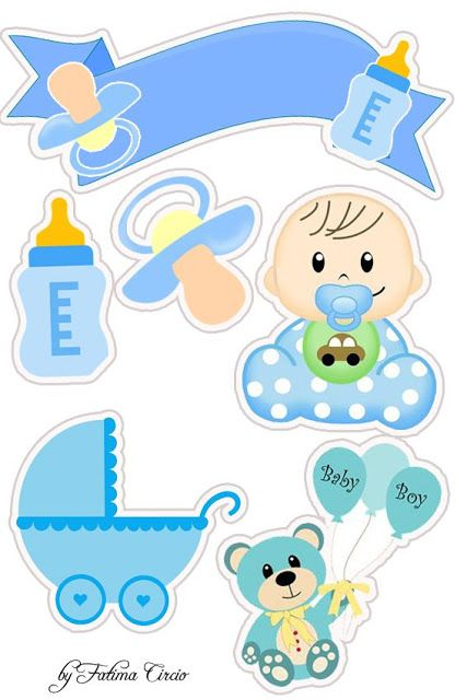 Baby Boy Free Printable Cake Toppers Baby Scrapbook Baby Shower Diy Baby Boy Scrapbook