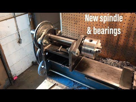 New Headstock Bearings Spinde Home Made Lathe Part 13 Youtube Lathe Parts Lathe Diy Lathe