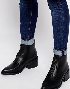 New Look Clove Zip Front Ankle Boots   /wardrobe   Pinterest ...
