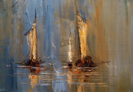 Boats by StudioUndertheMoon.deviantart.com on @deviantART