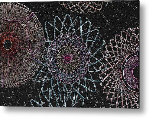 Spirograph 1010 Metal Print By Modern Art Metal Prints Spirograph Modern Art