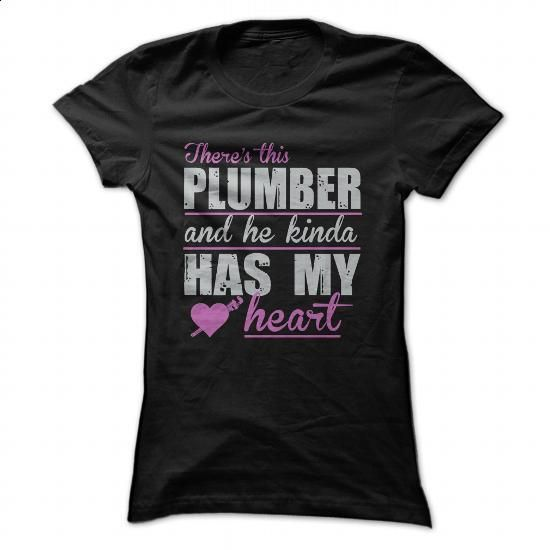 Heart - Plumber - #online tshirt design #hoodie sweatshirts. MORE INFO => https://www.sunfrog.com/Jobs/Heart--Plumber-Ladies.html?id=60505