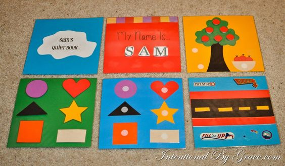 DIY quiet book {no sewing required} at intentionalbygrace.com
