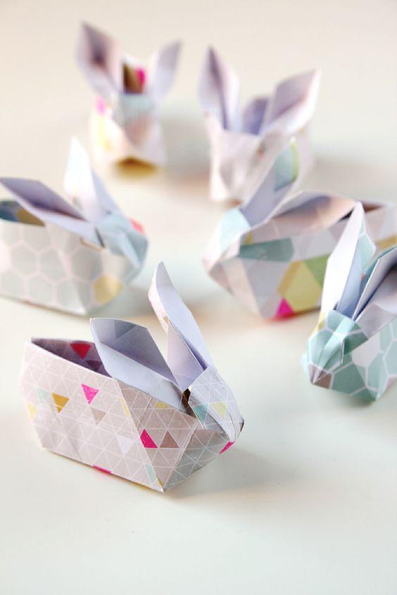 diy origami easter bunny baskets diys tutorials and