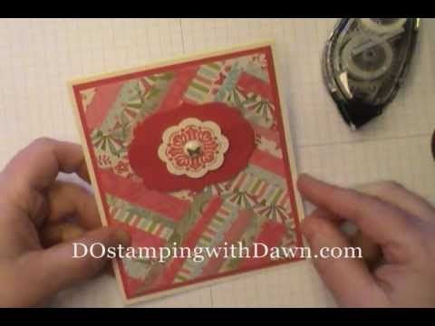 Got Scraps? Sale-a-Bration Everyday Enchantment Herringbone Technique - DOstamping with Dawn, Stampin' Up! Demonstrator
