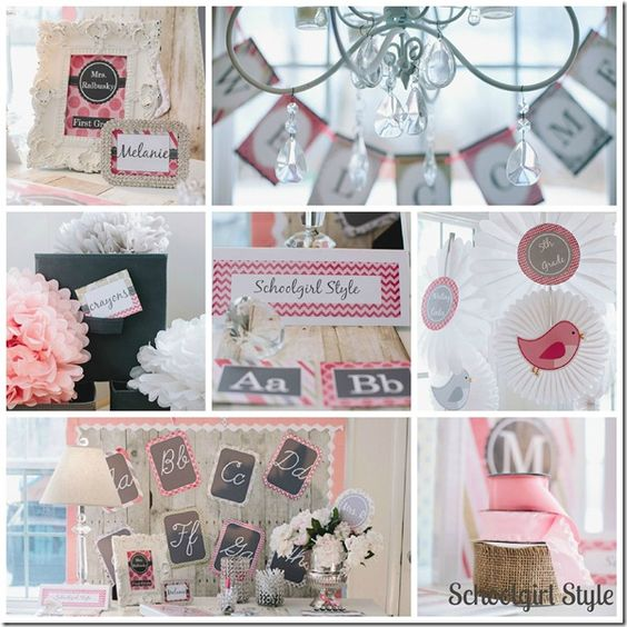 Classroom Decor Shabby Chic ~ Vintage pink chic from schoolgirl style shabby