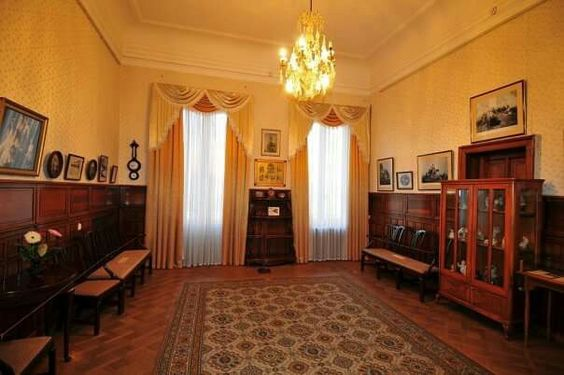 "The Romanov children's classroom at Livadia Palace. ""AL"""