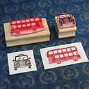 London Taxi And Bus Hand Carved Rubber Stamps