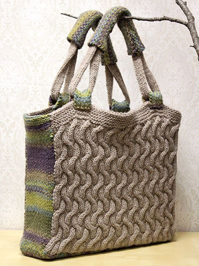 Knitted Bags Free Patterns : Purse Knitting Pattern with cables Free Knitting Patterns for Bags ...