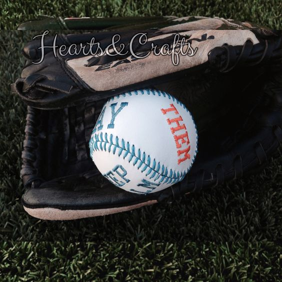 Embroidered personalized baseball. Brother pe770